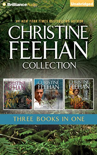 Christine Feehan 3-In-1 Collection: Wild Rain (#2), Burning Wild (#3), Wild Fire (#4) (Leopard)