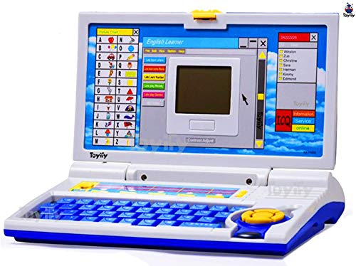 Toyify Educational Laptop Computer Toy with Mouse for Kids Above 3 Years - 20 Fun Activity Learning Machine, Now Learn Letter, Words, Games, Mathematics, Music, Logic, Memory Tool