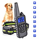 Dog Training Collars, Dog Shock Collar with Remote 880yards, 3 Modes Beep Vibration