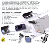 The Ultimate GBA Micro Starter Kit - 12 Essential Accessories for the Gameboy Advance Micro (Includes: GBA Micro Hard Case, GBA Micro Protective Rubber Grip Skin, Car Charger/Adaptor, GBA Game Cartridge Hard Case, Neck & Wrist Straps, High-Quality Ear Buds Headphones, Screen Protectors & Ultra-Soft Cleaning Cloths!)
