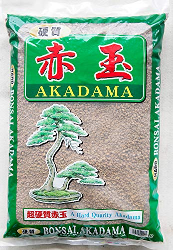 Japanese Super Hard Akadama for Bonsai/Succulent Soil - Medium 13 L / 18 Lbs