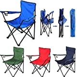 Saiyam Folding Chair - Portable Foldable Camping Chair for Fishing Beach Picnic Outdoor Chairs (Color May Vary)