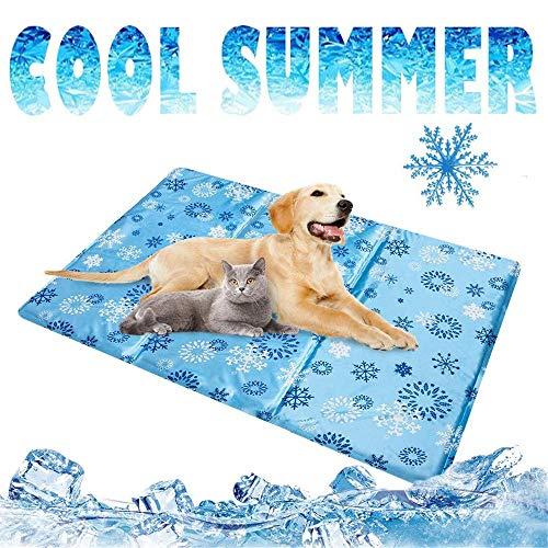 unknow Hundematratze Kühlmatte Ice Pet Isomatte Summer Self Cooling Gel Mat Pad Hundekühlmatten für den Innenbereich für Hunde, M.