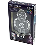Sleepy Lights Robot LED Bedside Night Light with Remote, Multi-Color Changing, Battery or USB Powered, 7', Translucent