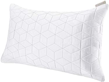 TEFOTO Shredded Memory Foam Adjustable Pillow Washable Removable Bamboo Cover Queen Size Neck Shoulder Pain Relief