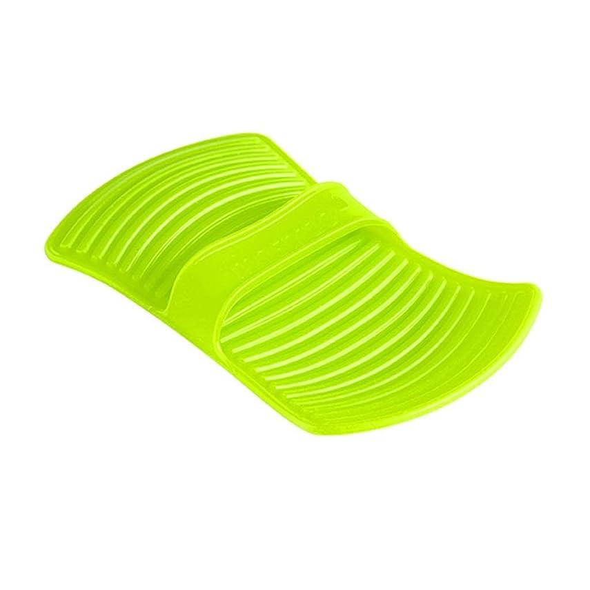 繁殖否認する染色LIUXIN シリコーン断熱材不凍液手袋高温焼け防止手袋家庭用ベーキング手袋滑り止め11.7 * 20.5センチグリーン×1 ゴム手袋