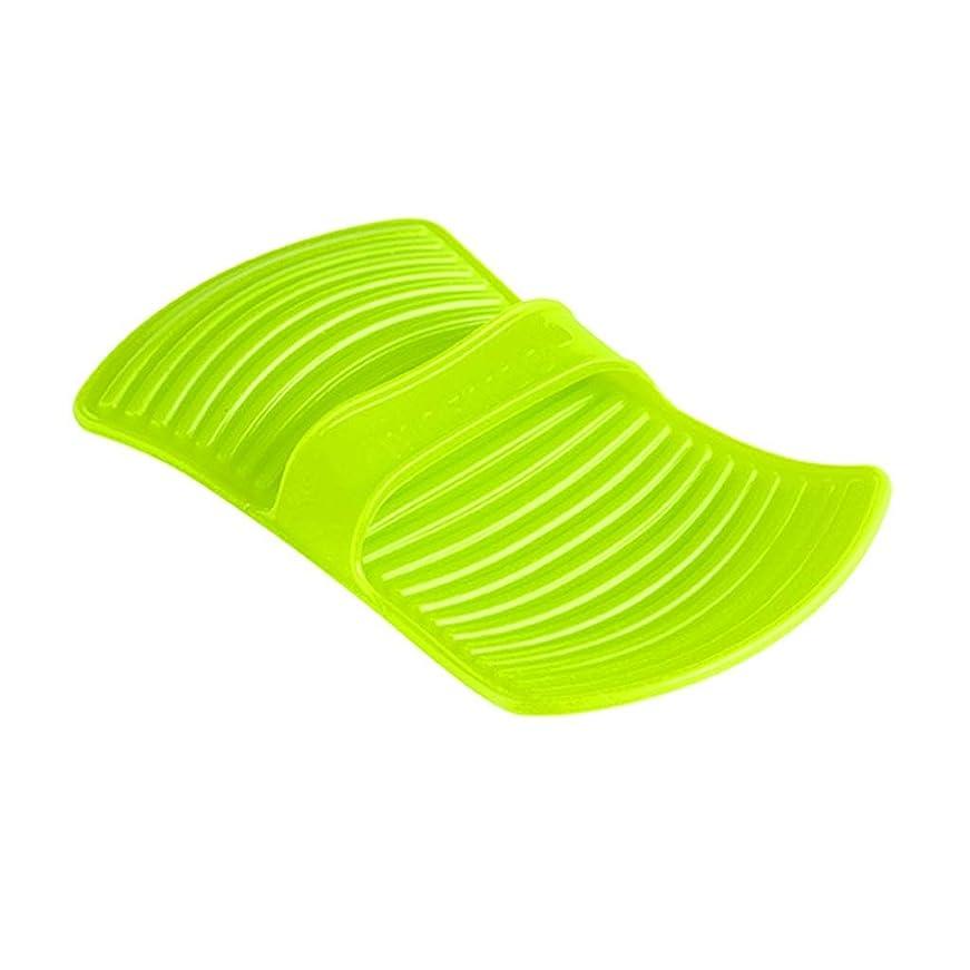 請負業者圧倒的突っ込むLIUXIN シリコーン断熱材不凍液手袋高温焼け防止手袋家庭用ベーキング手袋滑り止め11.7 * 20.5センチグリーン×1 ゴム手袋