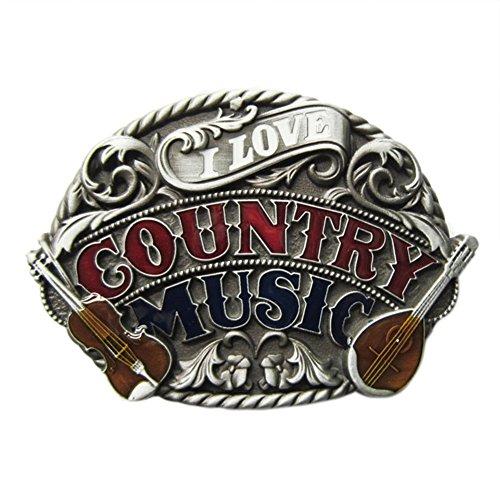 Urban Backwoods I Love Country Music I Hebillas de cinturón Belt Buckle