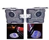 Sunshine Fly 2pcs LED Seite unter Spiegel Ghost Projektor Licht Logo Willkommenslicht Auto Ersatz Rücklicht Zubehör Weiße Glaslinse (Original)