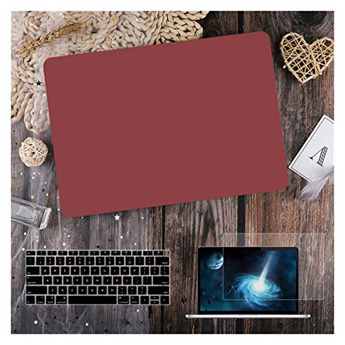 LYB Funda para MacBook Air 11 12 de 13.3 pulgadas para MacBook Air Pro 13 15 16 Touch Bar/Touch ID A2289 A2338 M1 A2159 (color rojo vino mate, tamaño: nuevo Pro 16 pulgadas A2141)