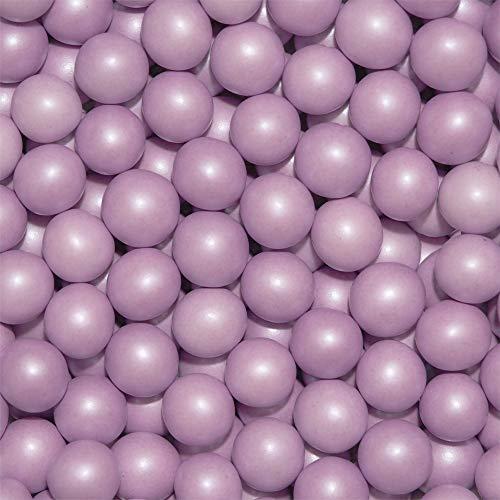 EinsSein 0,35kg Crispy Bruidsuiker Chocolade ballen large lila parel bruiloft chocoladebollen choco choups omhuld chocolade confetti rokante koekjes candy bar candybar geboorte communie geschenken