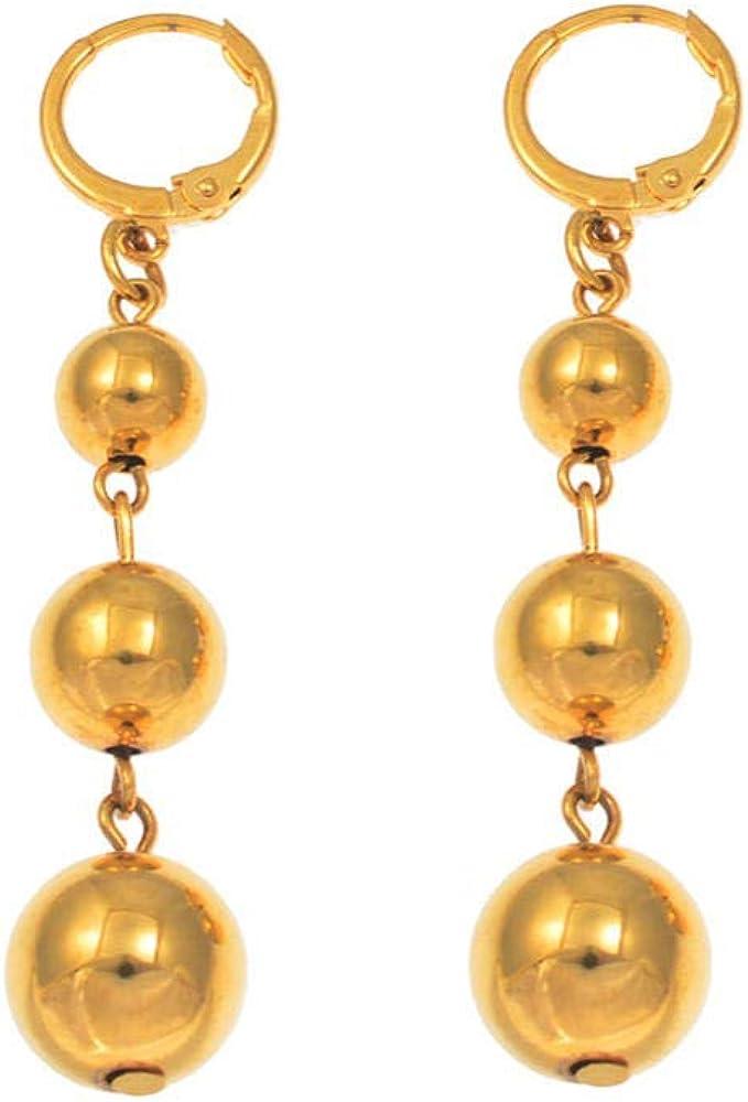 Ball Earrings for Women s Girl African Round Beads Earring Arab Middle Eastern Jewelry Gifts Hawaiian Earrings