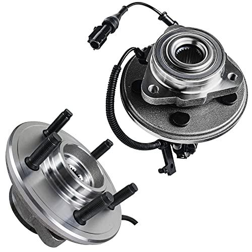 Detroit Axle - Front Wheel Bearings & Hubs for 2006-2010 Ford Explorer Explorer Mercury Mountaineer - 2pc set