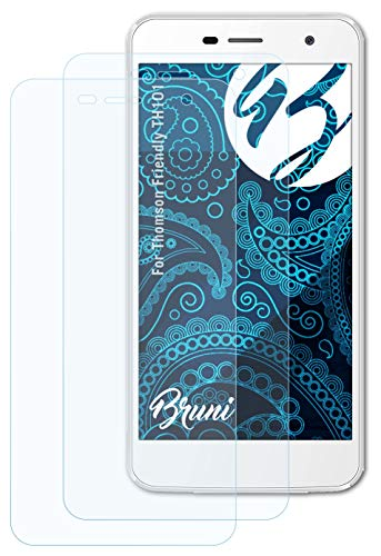 Bruni Schutzfolie kompatibel mit Thomson Friendly TH101 Folie, glasklare Bildschirmschutzfolie (2X)