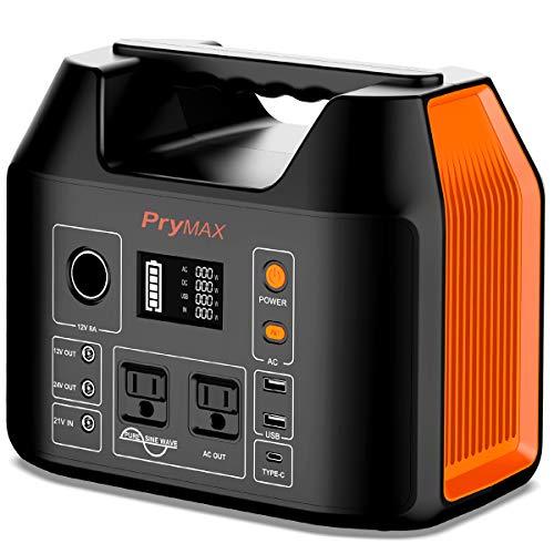 PRYMAX ポータブル電源 大容量 150000mAh/555Wh 家庭用 蓄電池 非常用電源 PSE認証済み 純正弦波 四つの充電方法 AC(500W 瞬間最大1000W) DC QC3.0 USB出力 液晶大画面表示 車中泊 キャンプ 釣り アウトド