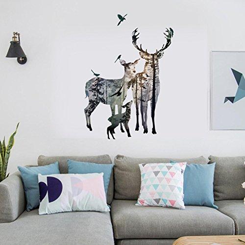 LEIXNDPLBO Sculpture Artisanat Creative Mur R/ésine Oiseaux Autocollant Salon Figurine Animale Peintures Murales TV Mur Fond et D/écoratif D/écor /À La Maison Or