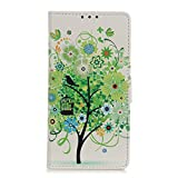 coque Painted Pattern Flip Wallet with Card Slots Phone