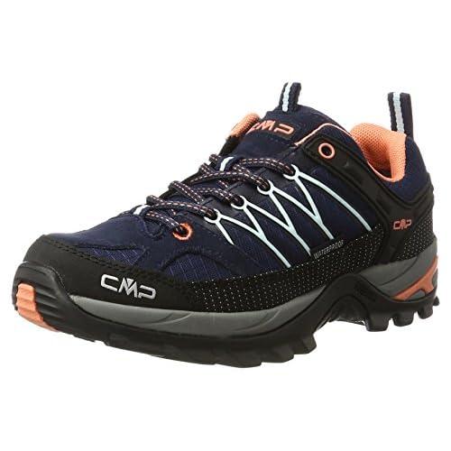 CMP Rigel Low Wmn Trekking Shoe WP, Scarpe da Arrampicata Donna, Blu (B.Blue-Giada-Peach 92ad), 36 EU