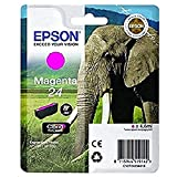 Epson 24 Magenta Elephant Genuine, Claria Photo HD Ink Cartridge, Amazon Dash Replenishment Ready