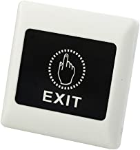 HOMYL Universal 12V Exit Button Door Access Control System Switch 86 Type Mounting for Home Office Easy Installation