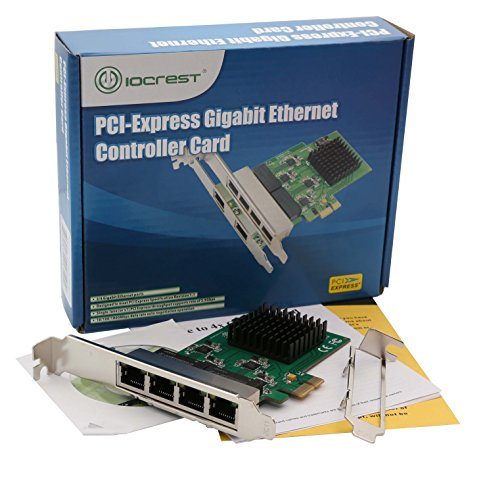 4 Port Quad Gigabit Ethernet PCI Express 2.1 PCI-E x1 Network Interface Card (NIC) 10/100/1000 Mbps Realtek Chipset SI-PEX24042 Nevada