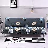 WXQY Funda de sofá con Estampado Floral, Funda de sofá elástica Plegable sin reposabrazos, Funda de sofá Plegable, Funda de sofá Cama A19 de 4 plazas