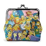 Monedero Monedero Simpsons Hebilla monederos Billetera Cambio Mujeres Viajes Maquillaje billeteras Vintage Kiss-Lock Bolsa Lindo Exquis