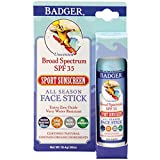 Badger - SPF 35 Clear Zinc Sport Sunscreen Stick - Unscented - Broad...