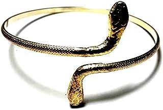 artigianale 1 Bracciale Serpente Romano da Braccio a Schiava Bagno Oro, Argento o Altro Colore Lavorazione Danza del Ventr...