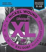 D'Addario EXL120BT×5SET エレキギター弦
