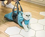 Cinf Cat Pet Supply Grooming Bag Restraint Bag Cats Nail Clipping Cleaning Grooming Bag, No Scratching Biting Restraint for Bathing Nail Trimming Injecting Examining,(Blue,M)