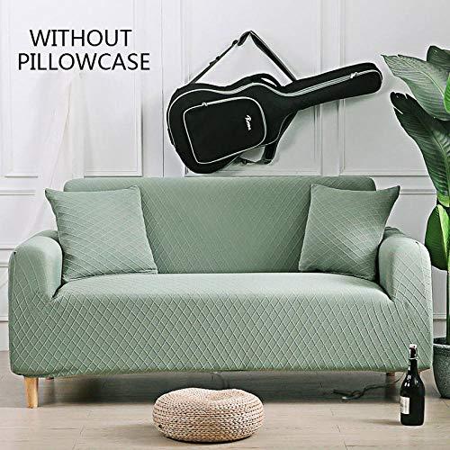 Protector Para Sofás Muebles Contra Mascotas Polvo,Fundas De Sofá De Esquina De Color Sólido Para Sala De Estar Fundas De Sofá De Tela Escocesa Elástica Universal 3D Funda De Sofá Elástica 1 2 3 4 Pla