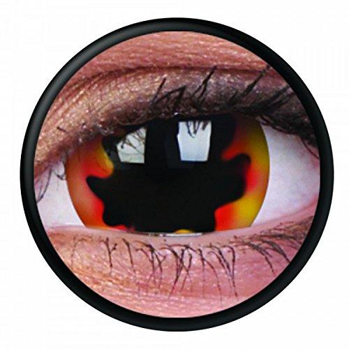 Halloween-Kontaktlinse Lustige Linse Blackhole Sun Jährliche Einweg-17-mm-Kontaktlinse stärke 0.00 von ColourVUE