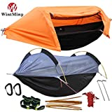 Patent Camping Hammock with Mosquito Net and Rainfly Cover,...