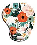 Dooke Ergonomic Mouse Pad with Wrist Support, Cute Mouse Pads with Non-Slip Rubber Base for Home Office Working Studying Easy Typing & Pain Relief Floral