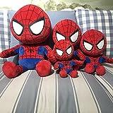Spider Hero Steel Hero Juguete de Felpa, capitán Alliance Plush Doll Bed Pillow, decoración de la habitación Regalo de cumpleaños Spider Hero (Postura sentada) 25 cm
