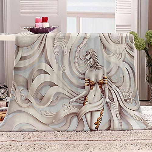 Ejiawj Mantas para Sofa Baratas Estatua de Mujer 120x200 cm 3D Impresión...
