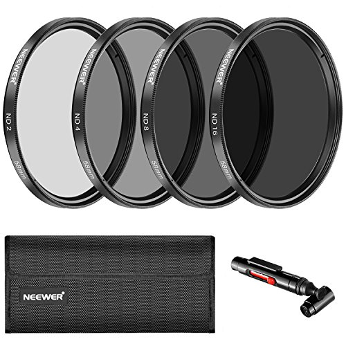 Neewer 58mm Filtro densidad Neutra ND2 ND4 ND8 ND16 y Kit Accesorios para Canon Eos Rebel T6I T6 T5I T5 T4I T3I Sl1, Canon EOS 750D...