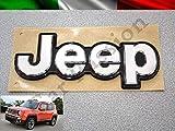 Scritta Stemma Logo Jeep Renegade Posteriore Originale Cromato Lucido Front Badge Emblem