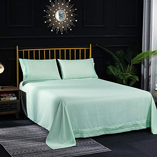 4 Piece Bed Sheet Set, Extra Soft Breathable Wrinkle Free and Easy Fit Bedding (Green)
