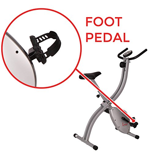 Sunny Health & Fitness SF-B2605 Upright Exercise Bike, Compact Foldable Home Indoor Bike