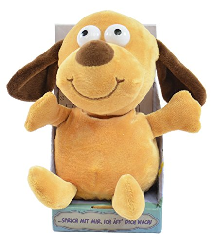 Kögler 75570 - Laber Hund Bruno, Labertier mit Aufnahme- und Wiedergabefunktion, plappert alles witzig nach und bewegt sich, ca. 18 cm groß, ideal als Geschenk für Jungen und Mädchen
