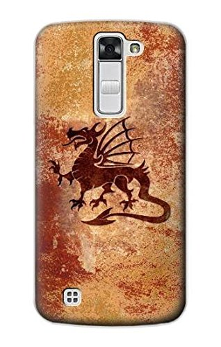 R2485 Dragon Metal Texture Graphic Printed Case Cover For LG K7
