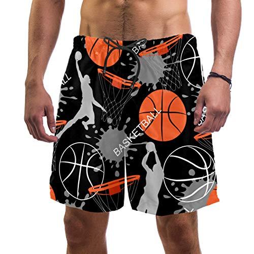 AITAI Pantalones cortos de playa para hombre de baloncesto de secado rápido para deportes de baño