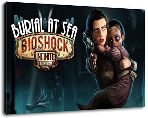 Dark Bioshock Format 100x70 cmfertig gerahmte Kunstdruckbilder als Wandbild - Billiger als Ölbild oder Gemälde - KEIN Poster oder Plakat