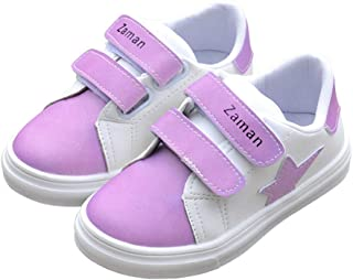 ZEYI Toddler/Little Kids Walking Shoes, Soft and Light Weight PU Leather Casual Kids Sneakers, Color Changing in The Sun