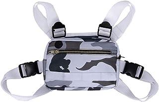 Bolso de pecho para hombres y mujeres, bolso para el pecho, bolso de hip hop, riñonera ajustable, mochila táctica de camuflaje, bolsillo para accesorios de teléfono móvil, radio