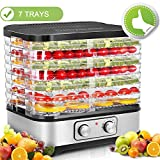 Homdox Food Dehydrator Machine, Food Dryer for Jerky/Meat/Beef/Fruit/Vegetable, Temperature Control, 5 Trays (7 trays)