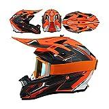 LEENP Motocross-Helm, Herren Crosshelm mit Schutzbrille, Motorrad Sports Off-Road-Helm ATV MTB Quad...