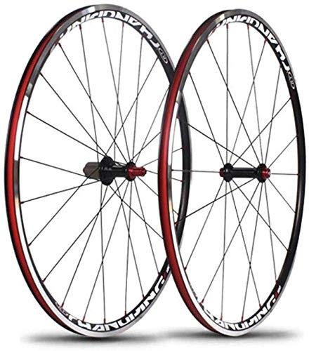 WYJW Neumático de Rueda de Bicicleta de Carretera 700C, Compatible con híbrido Velocidad de Bicicleta Freno de Disco Llanta de Rueda Aleación de Aluminio V-Brake